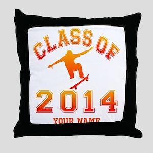 Class Of 2014 Skateboard Throw Pillow