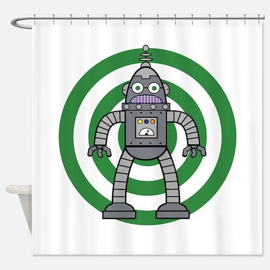 Metal - Robot Shower Curtain