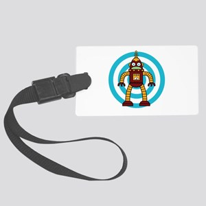 Red/Yellow - Robot Large Luggage Tag