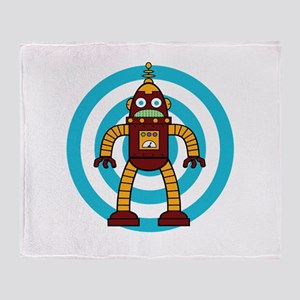 Red/Yellow - Robot Throw Blanket