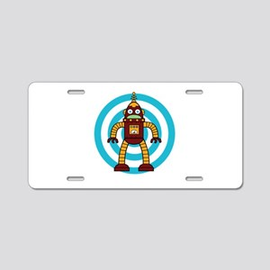 Red/Yellow - Robot Aluminum License Plate