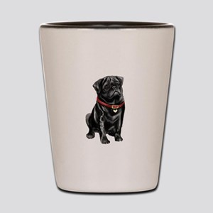 Black Pug (#1) Shot Glass