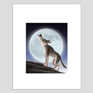 Howling at the moon Poster Design