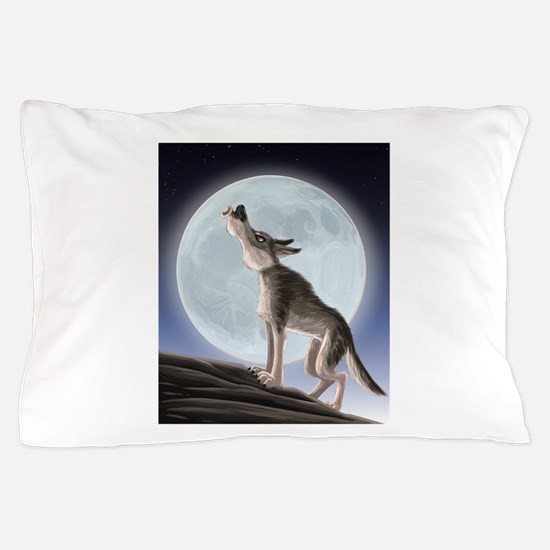 Howling at the moon Pillow Case
