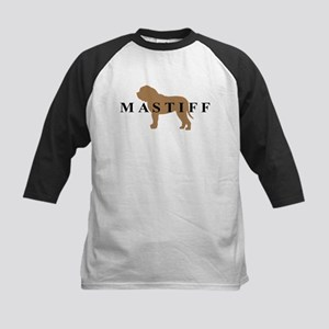 Mastiff Dog Breed Kids Baseball Jersey