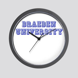 Braeden University Wall Clock