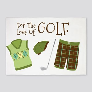 For The Love Of GOLF 5'x7'Area Rug