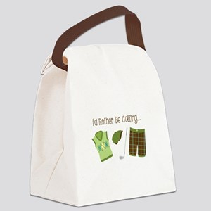 Id Rather Be Golfing... Canvas Lunch Bag