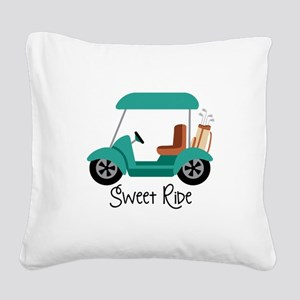 Sweet RiDe Square Canvas Pillow