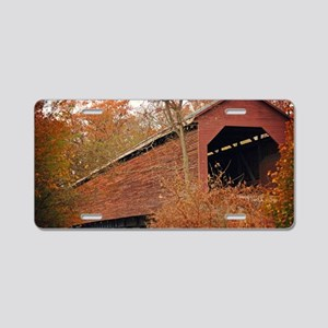 Covered Bridge Aluminum License Plate