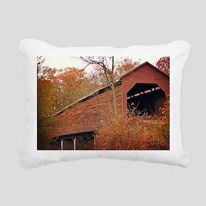 Covered Bridge Rectangular Canvas Pillow