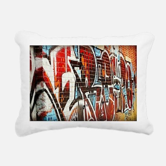 Graffiti wall Rectangular Canvas Pillow