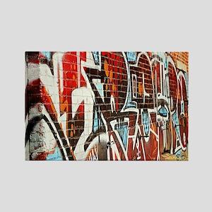Graffiti wall Rectangle Magnet