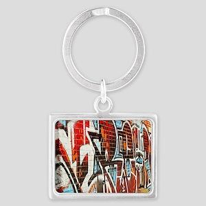 Graffiti wall Landscape Keychain