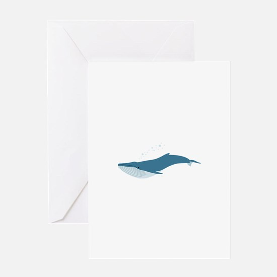 Blue Whale Greeting Cards