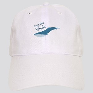 Great Blue Whale Baseball Cap