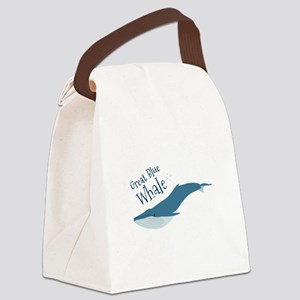 Great Blue Whale Canvas Lunch Bag