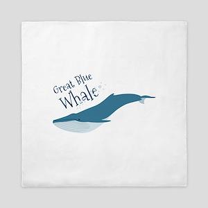 Great Blue Whale Queen Duvet