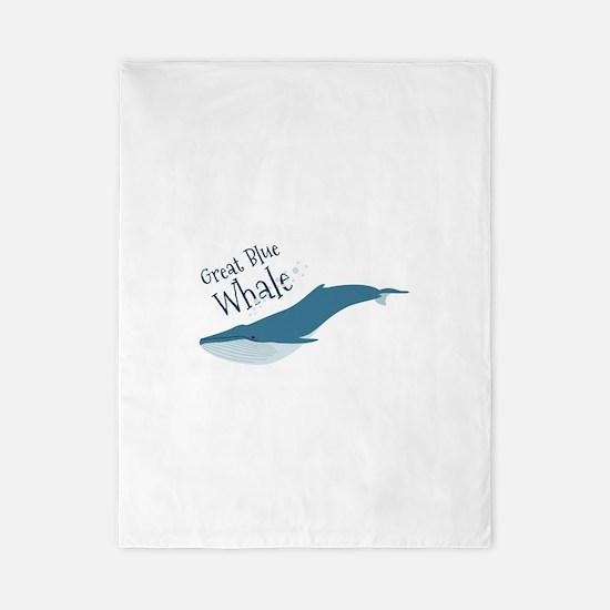 Great Blue Whale Twin Duvet