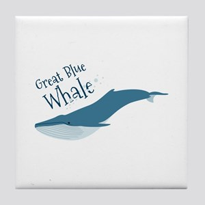 Great Blue Whale Tile Coaster