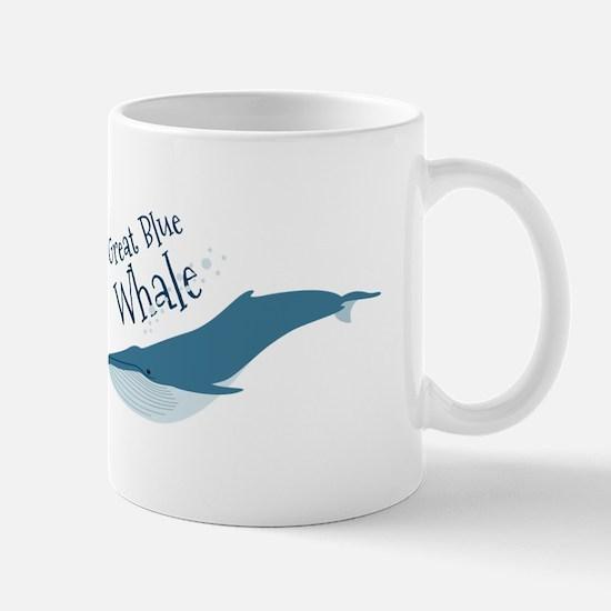 Great Blue Whale Mugs