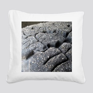 Track Square Canvas Pillow