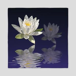 White Water Lily Queen Duvet