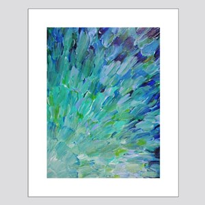 Sea Scales - Ombre Teal Ocean Abstract Small Poste