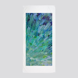 Sea Scales - Ombre Teal Ocean Abstract Beach Towel