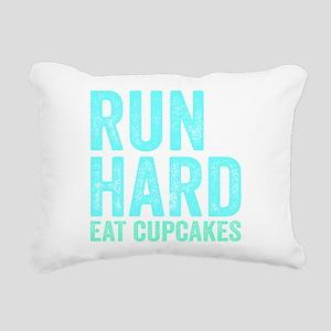 Run Hard Eat Cupcakes Rectangular Canvas Pillow