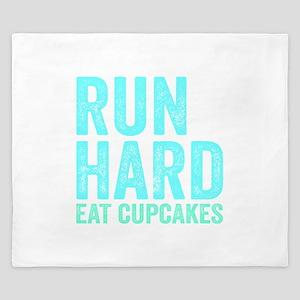 Run Hard Eat Cupcakes King Duvet