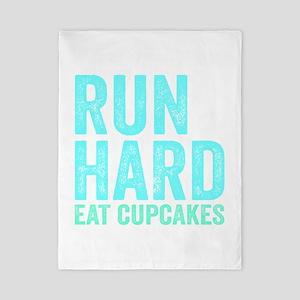 Run Hard Eat Cupcakes Twin Duvet
