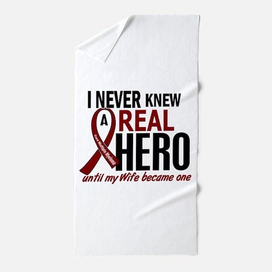Multiple Myeloma Real Hero 2 Beach Towel