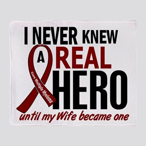 Multiple Myeloma Real Hero 2 Throw Blanket