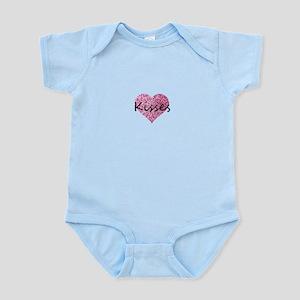 Kisses Pink Glitter Heart Body Suit