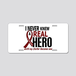 Multiple Myeloma Real Hero Aluminum License Plate