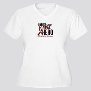Multiple Myeloma Women's Plus Size V-Neck T-Shirt