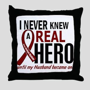 Multiple Myeloma Real Hero 2 Throw Pillow