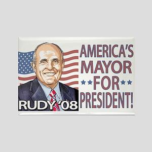 Mayor Rudy Portrait Rectangle Magnet