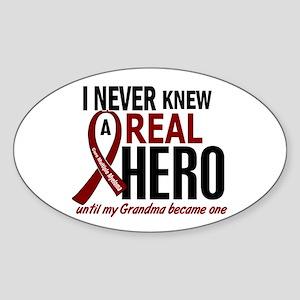 Multiple Myeloma Real Hero 2 Sticker (Oval)