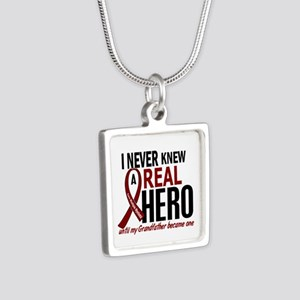 Multiple Myeloma Real Hero Silver Square Necklace