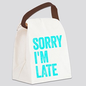 Sorry I'm Late Canvas Lunch Bag