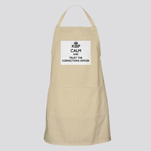 Keep Calm and Trust the Corrections Officer Apron