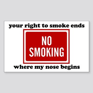 No Smoking Sign Rectangle Sticker