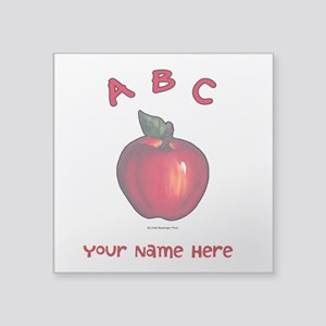 Red Apple Abc Personalize Sticker