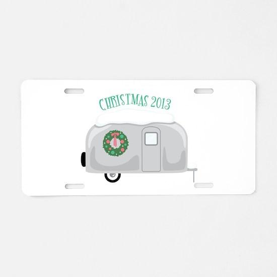 Christmas 2013 Aluminum License Plate
