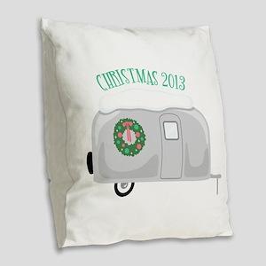 Christmas 2013 Burlap Throw Pillow