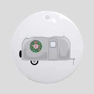 Christmas Trailer Ornament (Round)