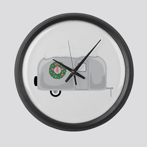 Christmas Trailer Large Wall Clock