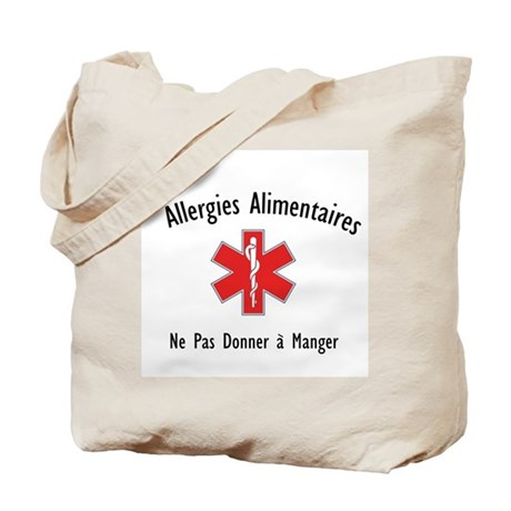 French Food Allergies Tote Bag